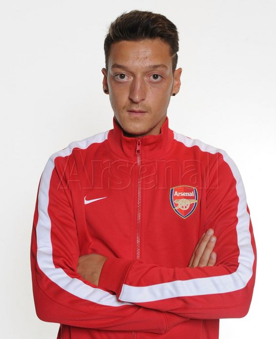 Mesut Ozil in his new Arsenal