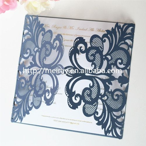 buy luxury wedding invitations dark blue wedding cards