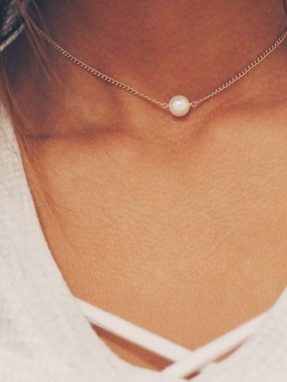 Pearl Chain Choker – Stargaze Jewelry