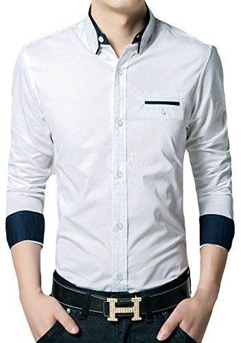 APTRO Men's Cotton Blend Business Slim Casual Long Sleeve Dress Shirt #11 White US XS(Tag L) APTRO http://www.amazon.com/dp/B0195WA7GA/ref=cm_sw_r_pi_dp_d.JAwb0VJTHDA