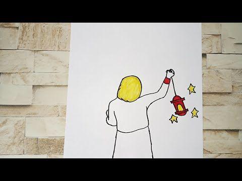 رسم سهل تعليم رسم بنت محجبة من الخلف تحمل فانوس رمضان سهل خطوه بخطوه للمبتدئين رسم رمضان Youtube Art Fictional Characters Character