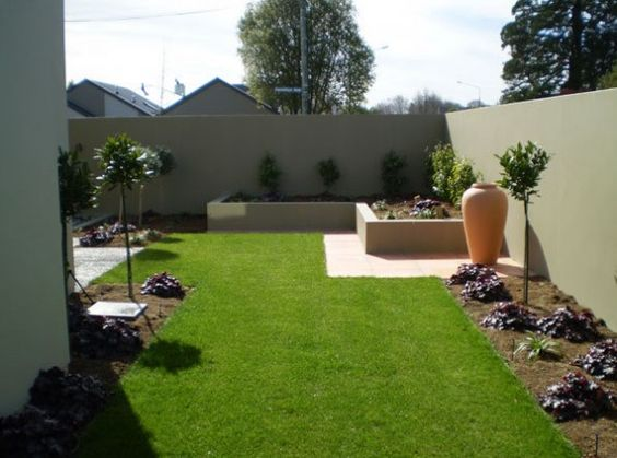Artistic beautiful modern garden concept idea with simple for Easy garden design ideas