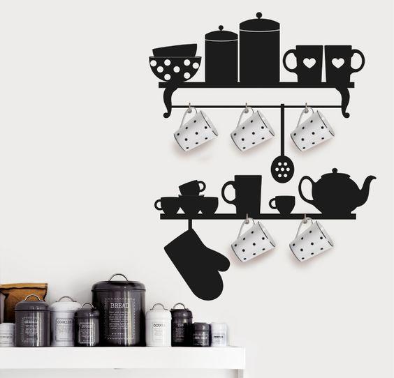 """KITCHEN DECO http://www.myvinilo.com/vinilos-decorativos-cocina/kitchen-deco.html La decoración más """"real"""" para tu cocina. Vinilos decorativos, hogar, decoración, interiores, pared, diseño, cocina, wall decals, stickers, decoration, design, kitchen, herbs, home, nevera, fridge.:"""