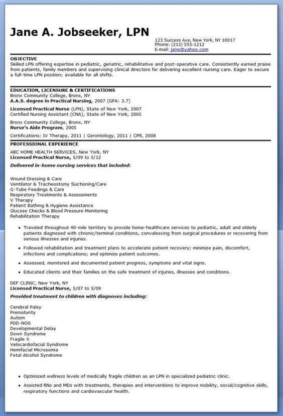 best ideas about lvn resume nursing resume and nursing