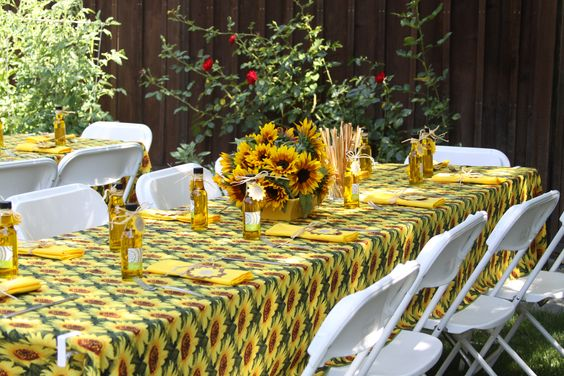 Tuscan Rustic Italian Themed Bridal Shower With Sunflower
