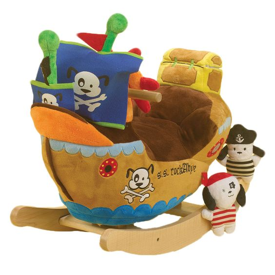 Ahoy Doggie Pirate Ship Play Rocker Interactive Plush Song Shape Riding Toy  New #CharmCo