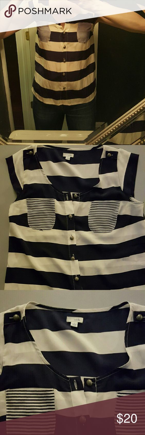 the world s catalog of ideas anthropologie nautical blouse adorable light weight nautical blouse has great attention to