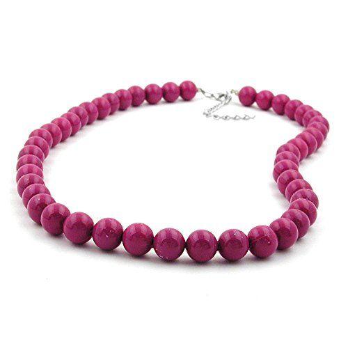 Kette, Perlen 10mm violett-glänzend Dreambase http://www.amazon.de/dp/B00OME9M4K/?m=A37R2BYHN7XPNV