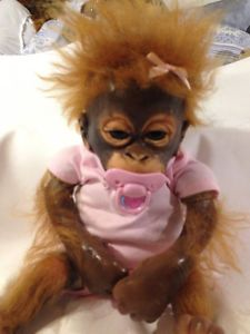 Ashton Drake Truly Real Monkeys Baby Orangutan Doll Umi