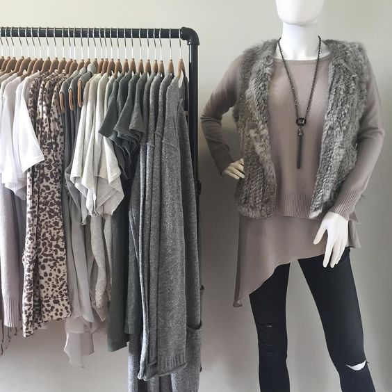 neutral colors are perfect for a gray day #sunday #nofilter #clothes #shopsmall #shoprefine