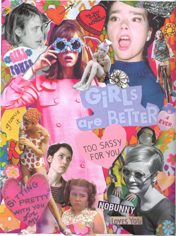 Girly things, I spy and Girls on Pinterest Feminism Tumblr Collage