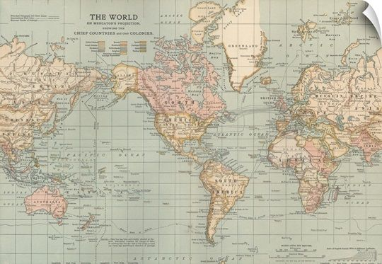 The World Vintage Map In 2020 Map Wall Art World Map Canvas World Map Wall Art
