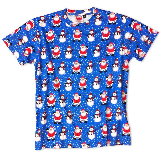 Santa and Snowman Chilling T-Shirt