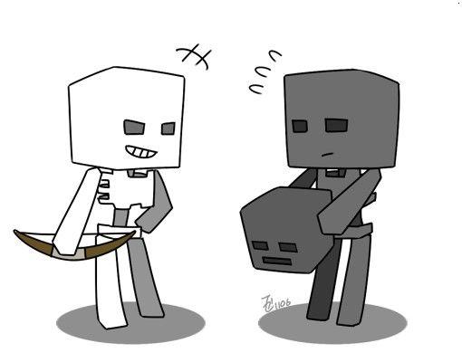 Minecraft Skeleton Anime