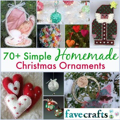 70+ Simple Christmas Ornaments - newly updated! These Christmas ornament tutorials are so fun to make for your tree.