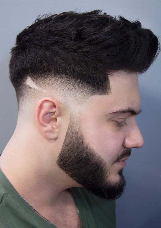 27 Cool Side Shaved Pompadour Messy Haircuts For Men 2018 Beard