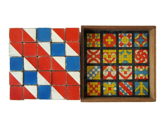 Color Cubes - Set of 25 Vintage Wooden Design Blocks, Made in Korea. $65.00, via Etsy.: