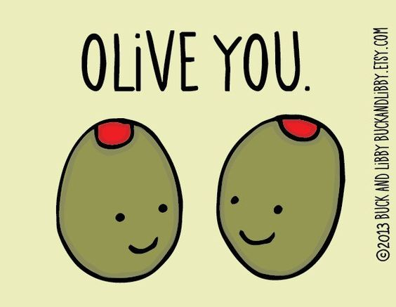 Olive you #toocute #valentines #pun