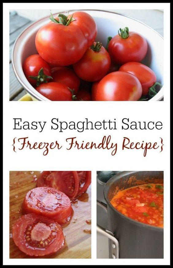 How to Make Spaghetti Sauce from Fresh Tomatoes (Freezer Friendly Recipe)