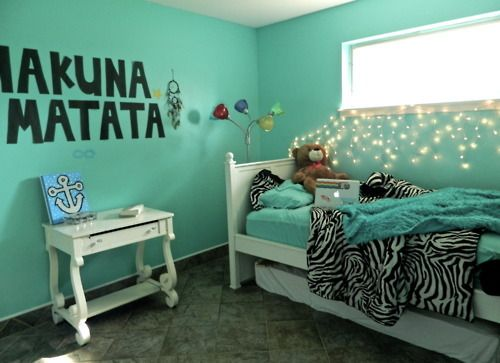 Hakuna matata bedrooms and mint bedrooms on pinterest for Bedroom ideas aqua