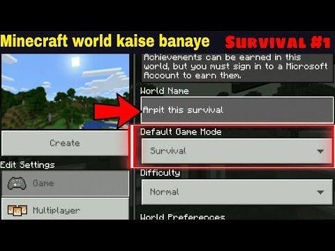 Minecraft New World Kaise Banaye Minecraft How To Create New World Hindi Youtube Minecraft Minecraft Survival World
