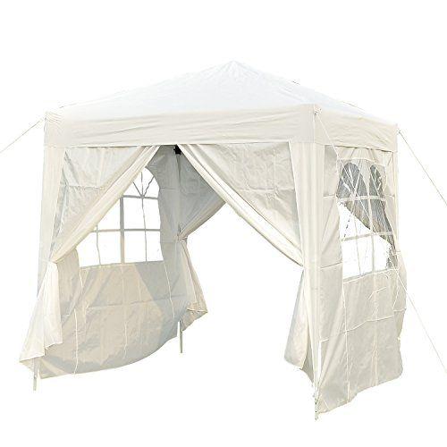 Outsunny Tonnelle Barnum Tente De Reception Pliante 2 X 2 X 2 55 M Blanc Avec Fenetres Sac De Transport En 2020 Mobilier De Salon Tente Reception Fenetre