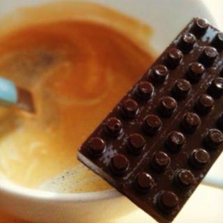 coffee and homemade chocolate :)
