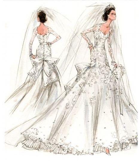 Gallery For gt Vintage Wedding Dress Sketch