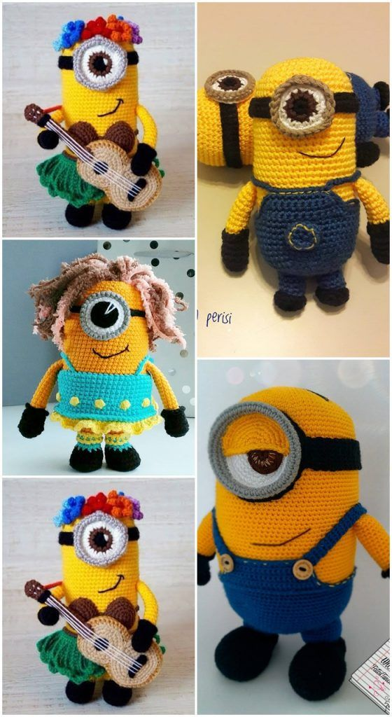 Minion Free Crochet Pattern Collection All The Best Ideas ... | 1024x560