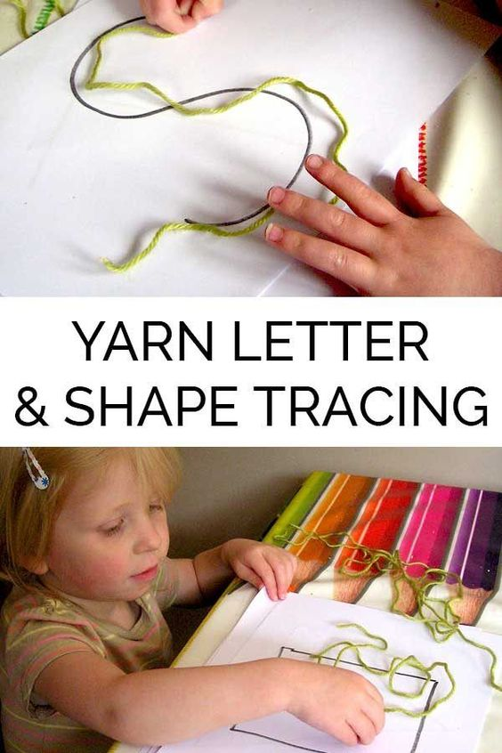 Yarn Shape and Letter Tracing Prewriting Skills   Shape ...