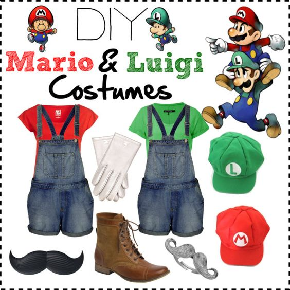 diy mario and luigi costumes halloween pinterest. Black Bedroom Furniture Sets. Home Design Ideas