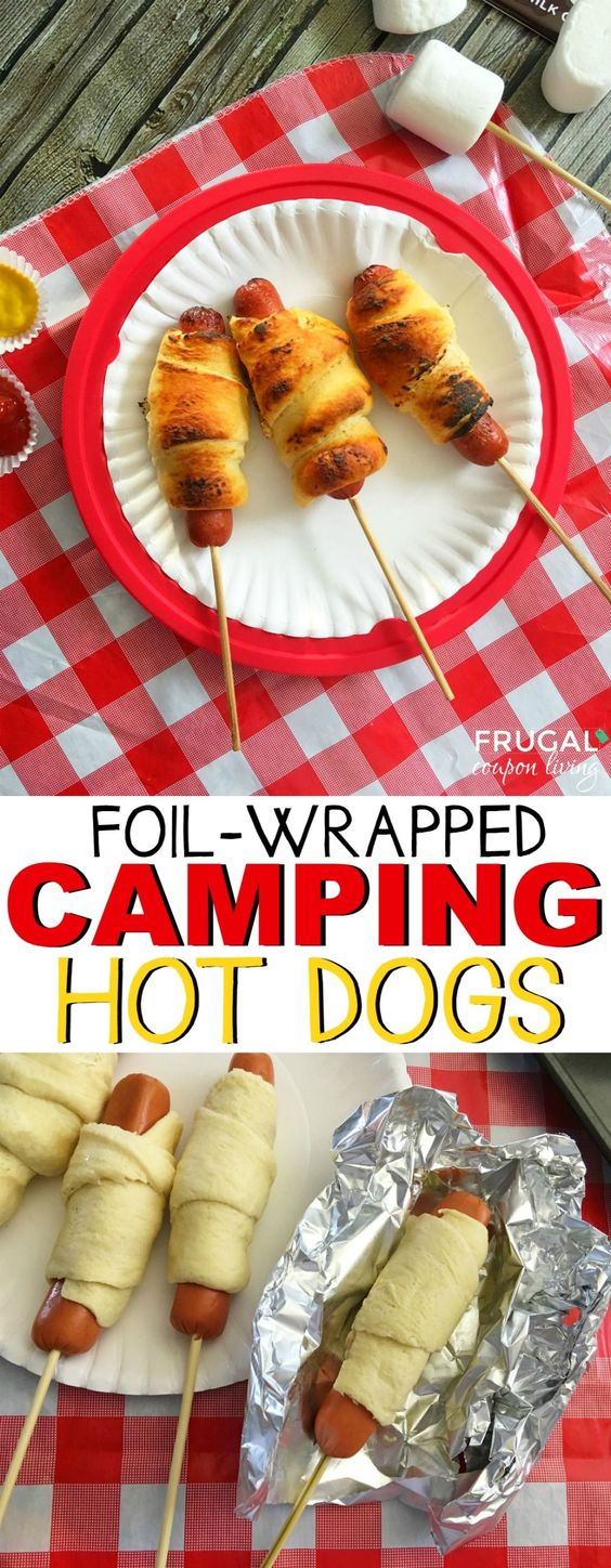 Camping Hot Dogs Recipe for the Campfire - Take these hot dogs to the backyard this summer or use as a camping entree idea on your text trip. Recipe on Fugal Coupon Living.: