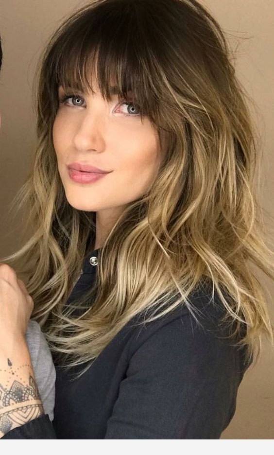 Light Brown Hair And Bangs Thick Hair Styles Bangs With Medium Hair Medium Length Hair Styles