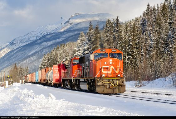 RailPictures.Net Photo: CN 5745 Canadian National Railway EMD SD75I at Grant Brook, British Columbia, Canada by Tim Stevens