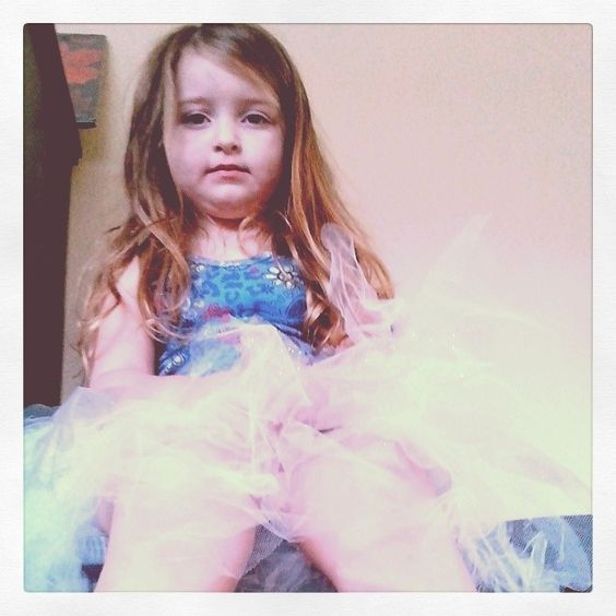 Waiting for her sister to get a tea party ready. #TeaParty #tutus #sisters #waiting #littlemiss #littlegirls #Friday