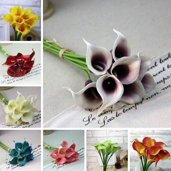 1Pcs Dector Calla Lilly  Fake Silk Plastic Artificial FlowerBouquet Flowers Lily #Unbranded