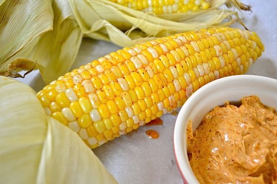 Oven Roasted Corn with Honey Chili Butter | Recipe | Oven Roasted Corn ...