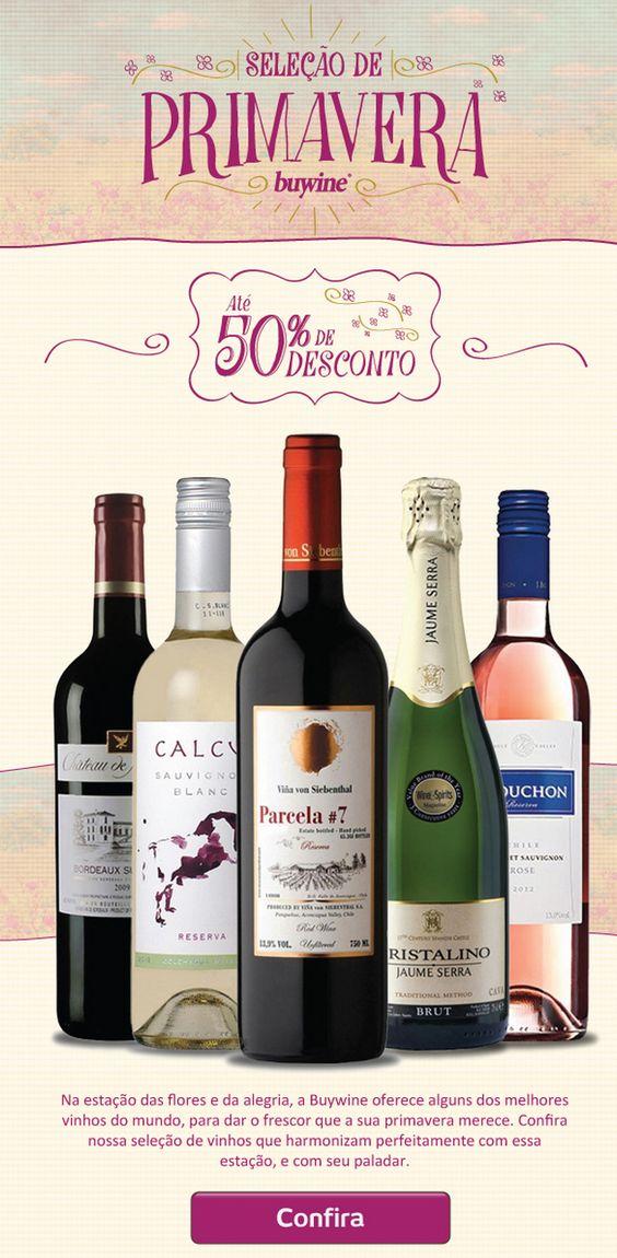 Vinhos de Primavera é na Buywine http://www.buywine.com.br