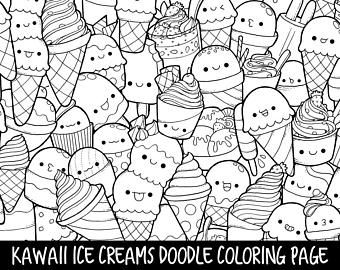 Kawaii Popsicle Coloring Pages Amazing Design