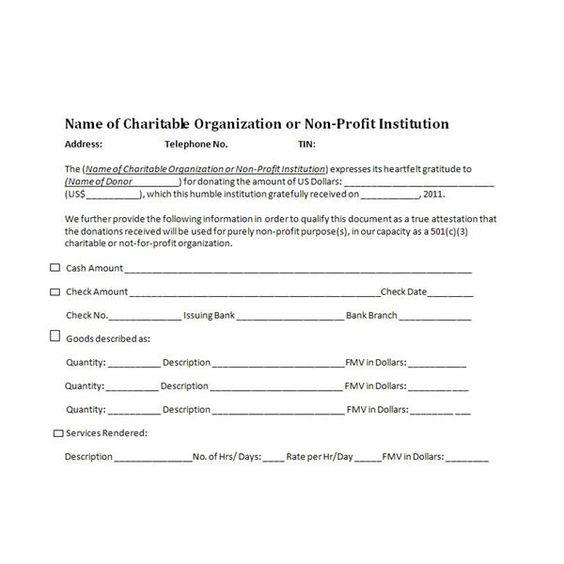 charitable donation receipt sample Cheer Pinterest Receipt - check receipt template