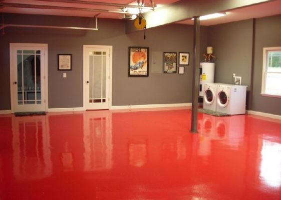 Extraordinary Red Epoxy Basement Floor Paint
