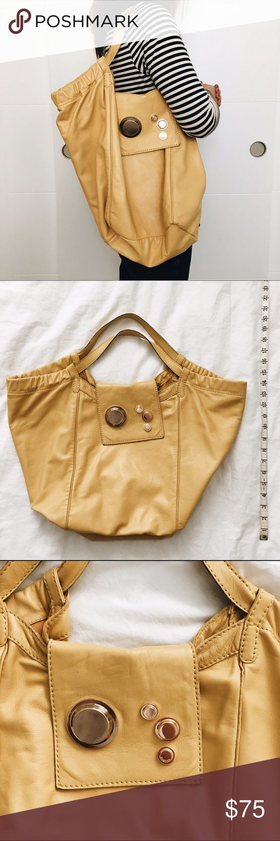 f9d442ce8a2b authentic Gustto yellow shoulder bag. All photos of the listing are taken  by me