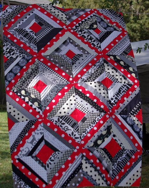 Sane, Crazy, Crumby Quilting: What's Black and White and Red All Over?: