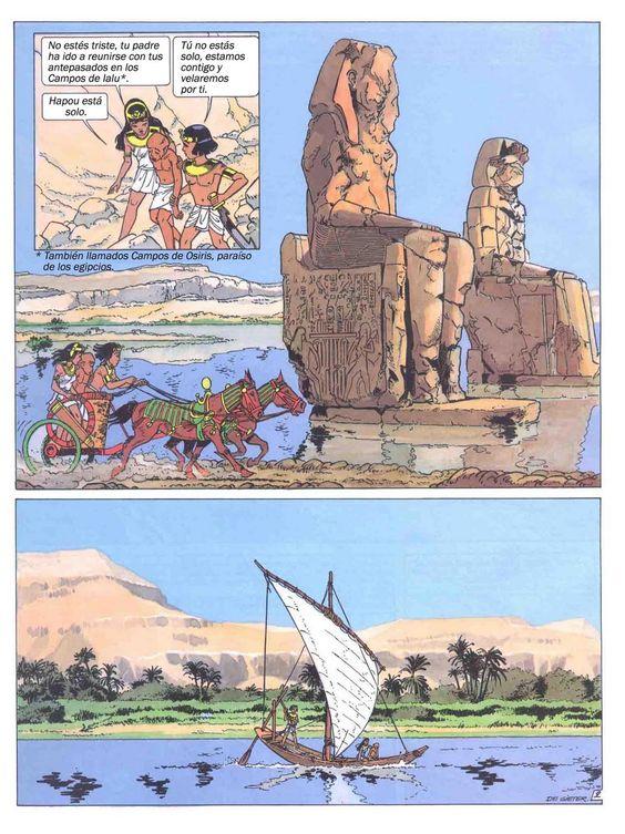 Profesor de Historia, Geografía y Arte: Egipto antiguo en cómic: