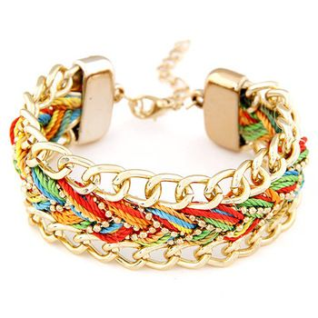 Newest Brand European and American fashion wild temperament exaggerated metal Romantic Statement bracelet For Women 2014