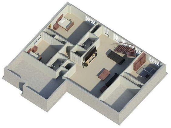 Plan #22294: 4 bedroom, 2.5 bath house plan with 3-car garage. Ranch style house plans, 2 story   HousePlansPlus.com