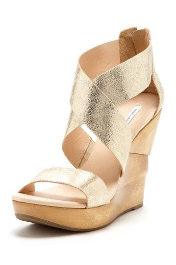 DVF. Gold wedges..In Love with these shoes!!