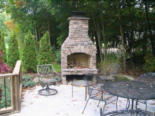 Small Outdoor Fireplace Ideas Backyard