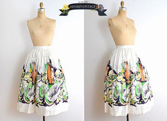 vintage 50s skirt - beachwear?
