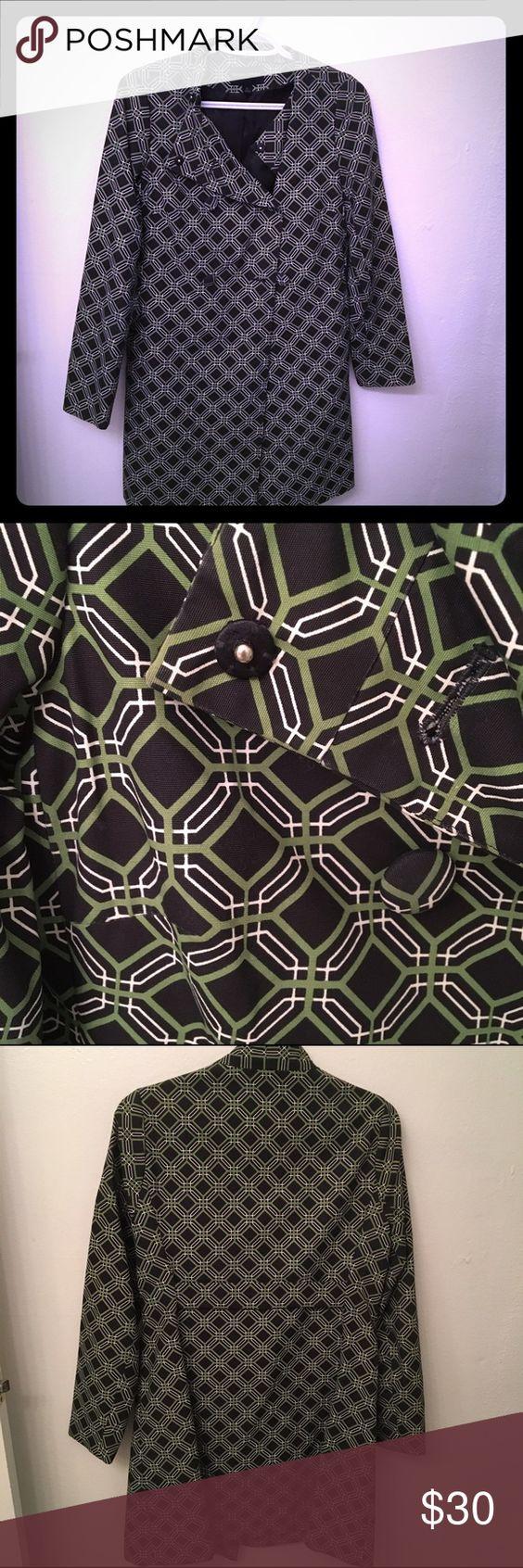 Navy and green jacket Worn twice Banana Republic Jackets & Coats Trench Coats